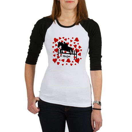 Fun Horse Jumper and Hearts Baseball Jersey