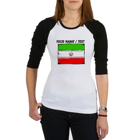 Custom Iran Flag Baseball Jersey