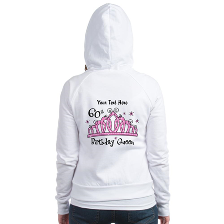 Personalized Tiara 60th Birthday Queen Jr. Hoodie