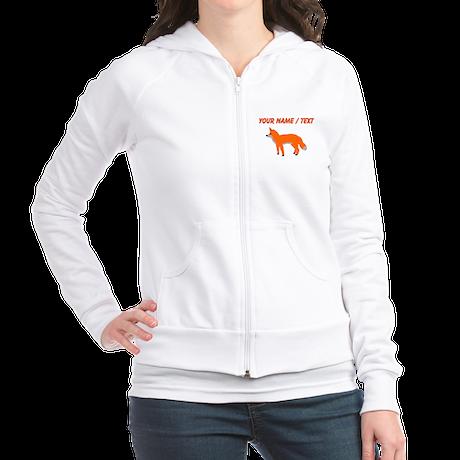 Custom Orange Fox Pup Jumper Hoody Pullover