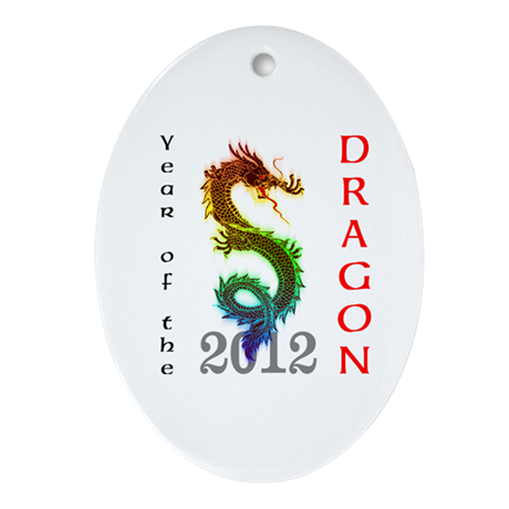 Year of the Dragon 2012 Ornament (Oval)