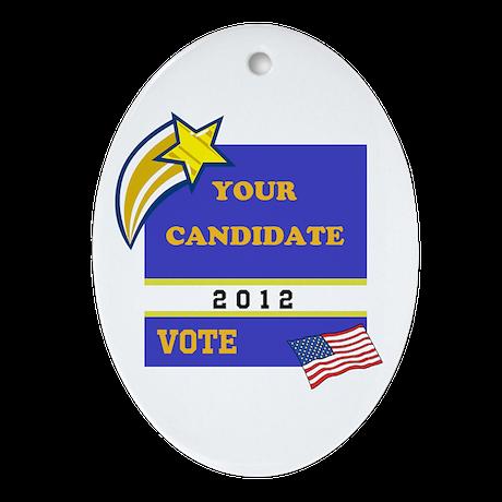 Vote Ornament (Oval)