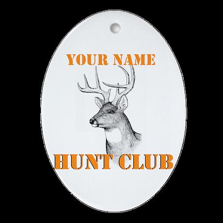 Custom Hunt Club Ornament (Oval)