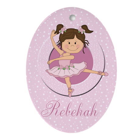Cute Ballerina Ballet Gifts Ornament (Oval)