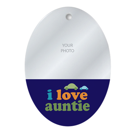 I Love Auntie Ornament (Oval)