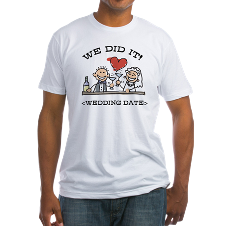 Funny Personalized Wedding Fitted T-Shirt