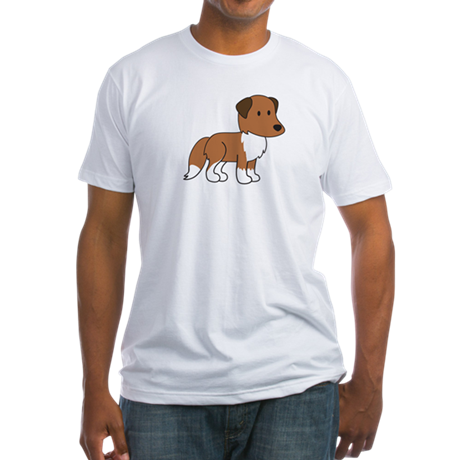 Cute Collie Fitted T-Shirt