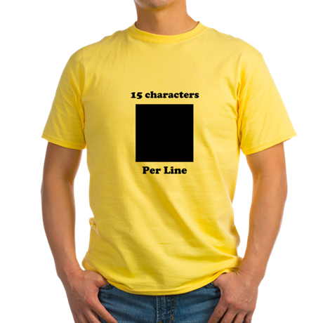 Your Picture Your Text Yellow T-Shirt