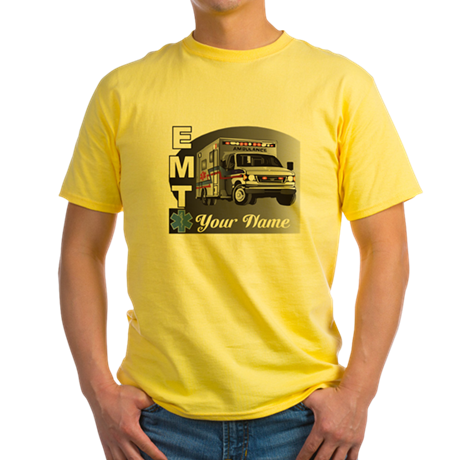 Custom Personalized EMT Yellow T-Shirt