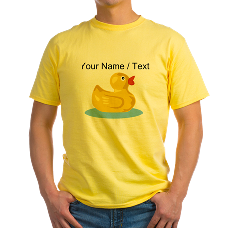 Custom Yellow Rubber Duck T-Shirt