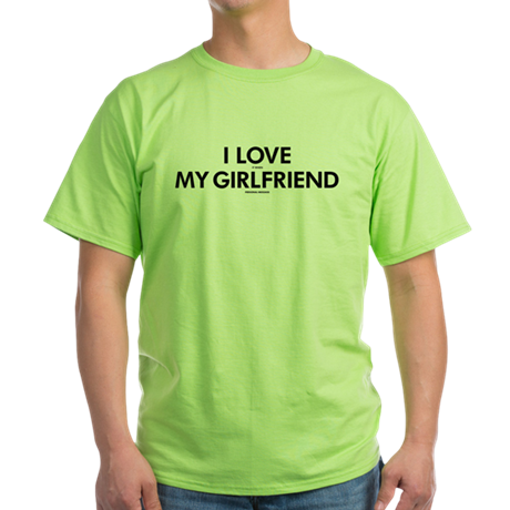 Personalized LOVE GIRLFRIEND Green T-Shirt