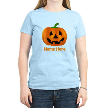 Customized Pumpkin Jack O La Women's Light T-Shirt