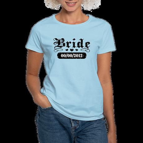 Bride (add wedding date) Women's Light T-Shirt
