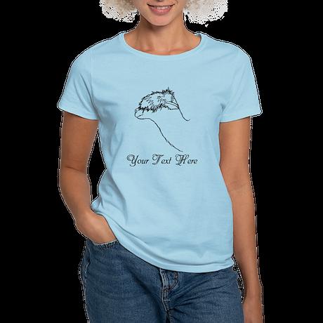 Alpaca. Custom Text. Women's Light T-Shirt