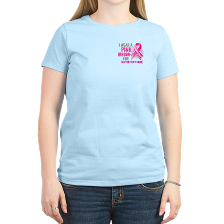 Personalized Breast Cancer Custom Women's Light T-