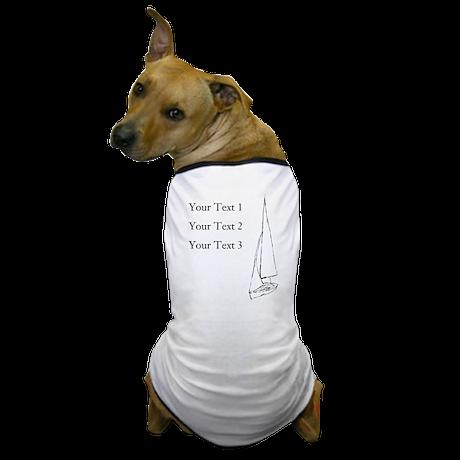 Sail Boat and Custom Text. Dog T-Shirt