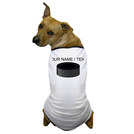 Custom Hockey Puck Dog T-Shirt