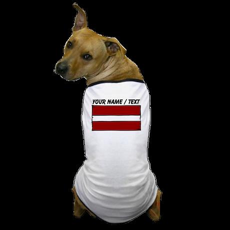 Custom Latvia Flag Dog T-Shirt