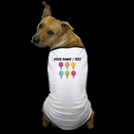Custom Colorful Waffle Cones Dog T-Shirt
