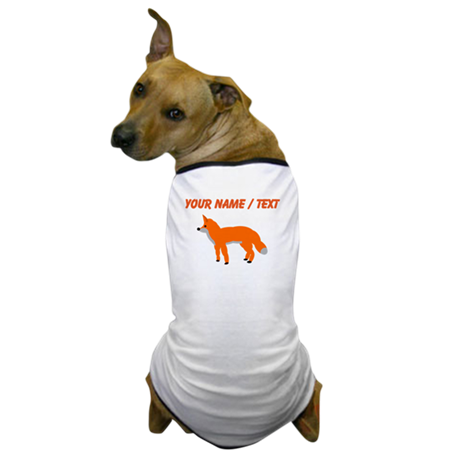 Custom Orange Fox Pup Dog T-Shirt