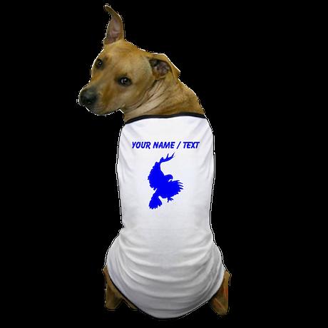 Custom Blue Hawk Silhouette Dog T-Shirt