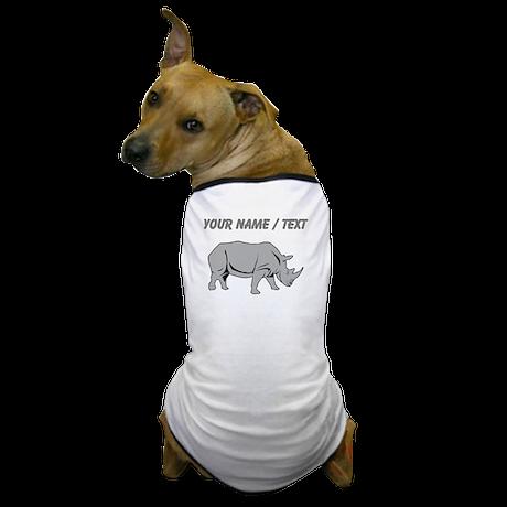 Custom Grey Rhino Dog T-Shirt