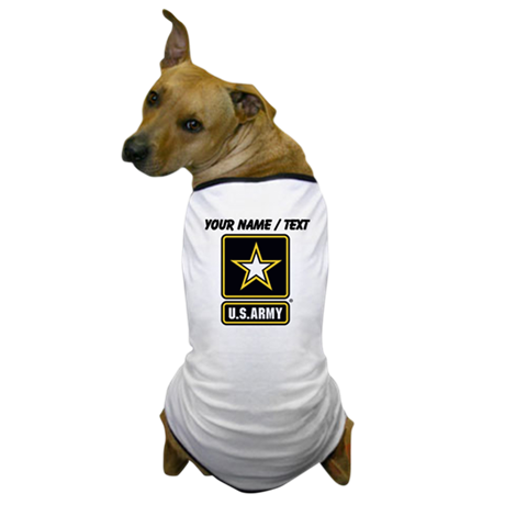 Custom U.S. Army Gold Star Logo Dog T-Shirt