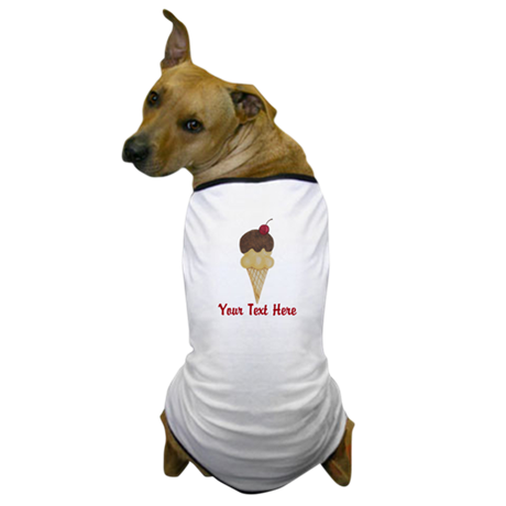 Personalizable Double Scoop Ice Cream Dog T-Shirt