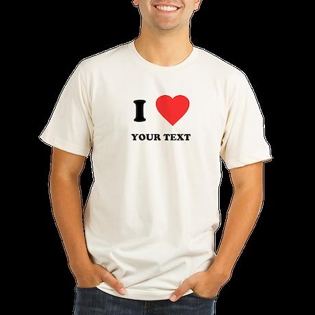 Custom I Heart Organic Men's Fitted T-Shirt