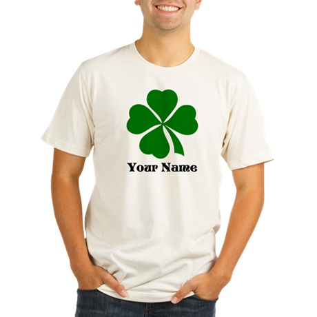 Personalized St Patrick's Day Organic Men's Fitted