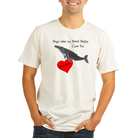 Personalized Whale Organic Men's Fitted T-Shirt
