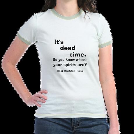Dead Time/Where Spirits Are Jr. Ringer T-Shirt