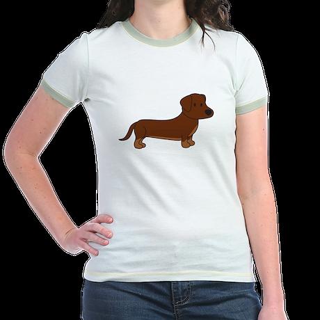 Cute Dachshund Jr. Ringer T-Shirt