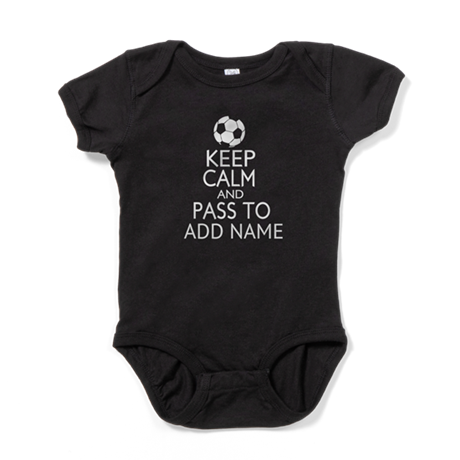 personalized Funny football keep calm soccer Baby