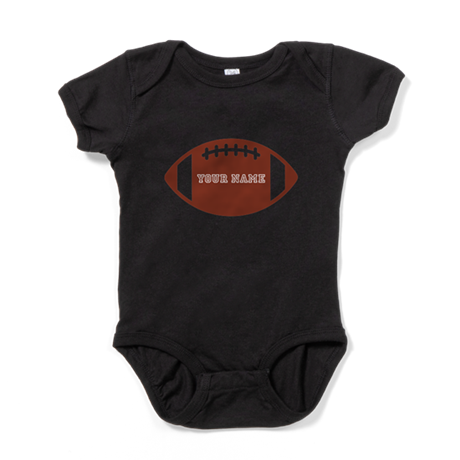 Custom name Football Baby Bodysuit