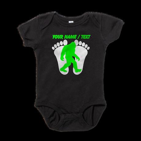 Custom Bigfoot Footprint Baby Bodysuit