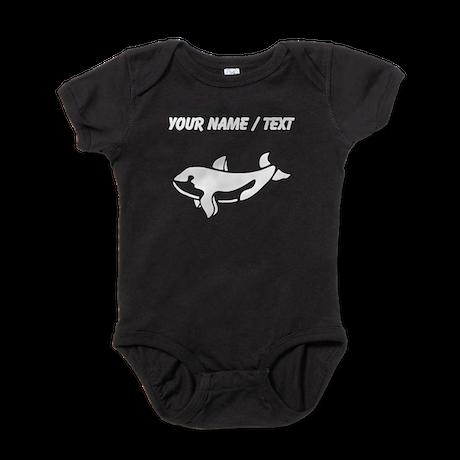 Custom Baby Whale Silhouette Baby Bodysuit