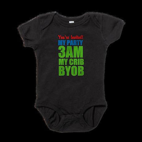 Customized My Party 3Am My Crib Byob Baby Bodysuit