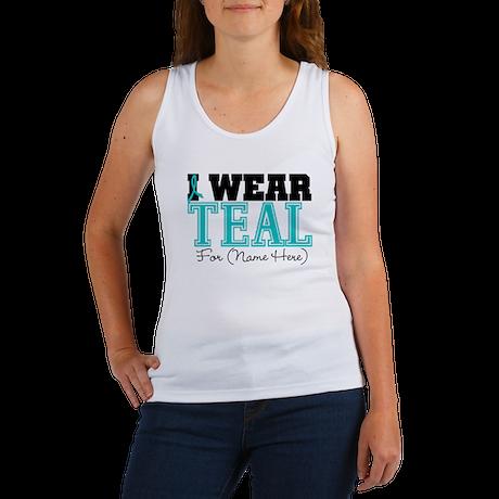 Custom Teal Ovarian Cancer Women's Tank Top