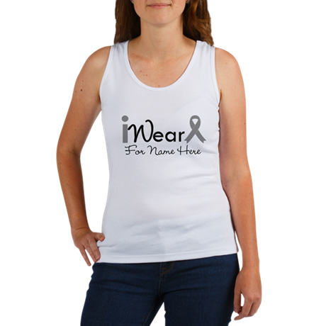 Personalize Brain Cancer Women's Tank Top