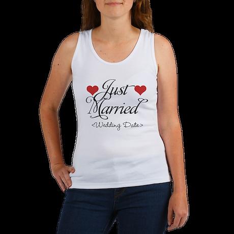 Just Marrried (Add Wedding Date) Women's Tank Top