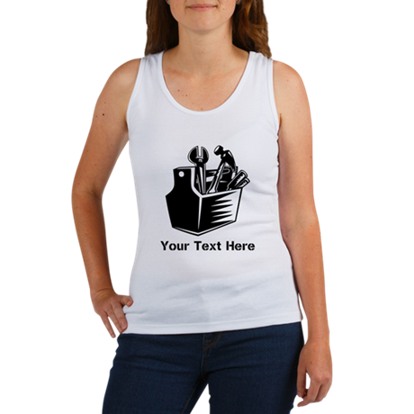 Tools with Text in Black. Women's Tank Top