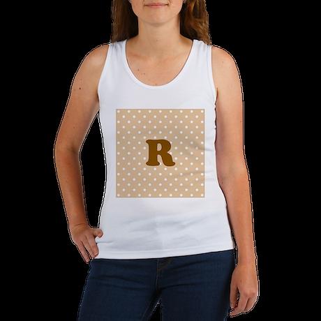 Your Letter. Brown Monogram. Women's Tank Top
