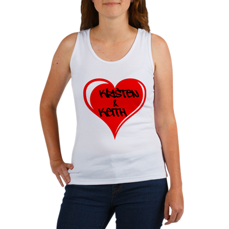Personalized with names Valentines day heart Women