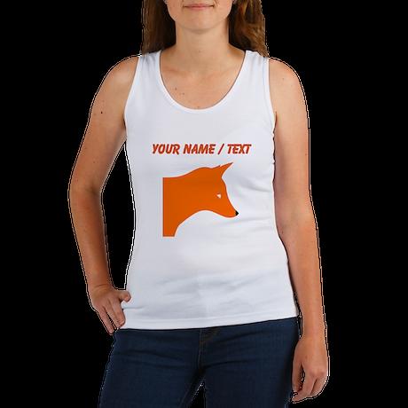 Custom Orange Fox Tank Top