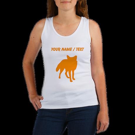 Custom Orange Fox Silhouette Tank Top