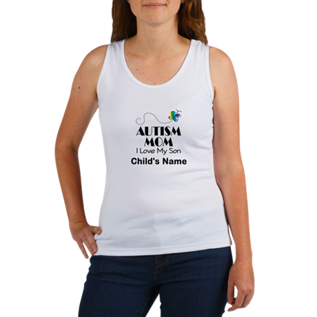 Personalized Autism Mom Women's Tank Top