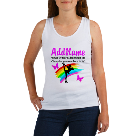 ICE SKATER QUOTE Women's Tank Top