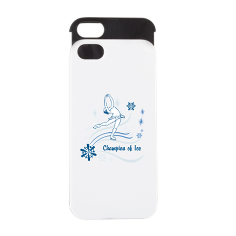 Personalized Ice Skater iPhone 5 Wallet Case