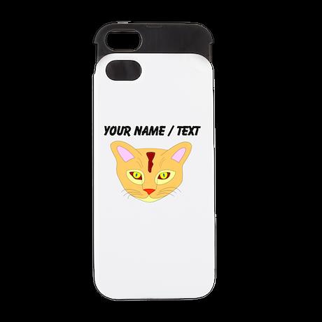 Custom Orange Cat Face iPhone 5 Wallet Case